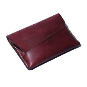 malá kožená peněženka červená
